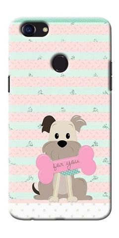Digiprints Innocent Puppy  Printed Designer Back Case Cover For Oppo F5