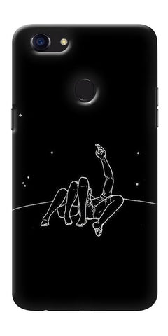 Digiprints Couple In Moonlight Printed Designer Back Case Cover For Oppo F5