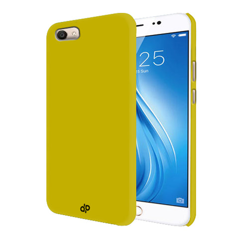 Digiprints Hard Back Case for Vivo V5-Yellow