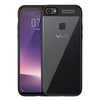 Digiprints Soft Silicon Bumper With Hard Transparent Pc Mobile Back Cover For Vivo V7 Plus-Black
