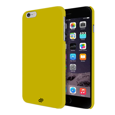 Digiprints Hard Back Case for Apple iPhone 6-Yellow