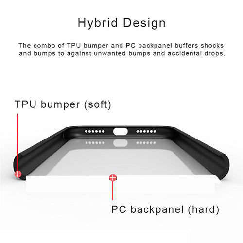 Digiprints Soft Silicon Bumper With Hard Transparent Pc Mobile Back Cover For Vivo Y66-Black
