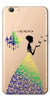 Digiprints Beautiful Lady In Butterfly Gown Design Pattern 2 Case For Oppo F3