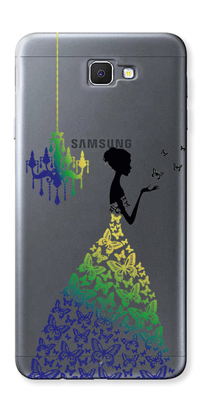 Digiprints Beautiful Lady In Butterfly Gown Design Pattern 2 Case For Samsung Galaxy A9 Pro