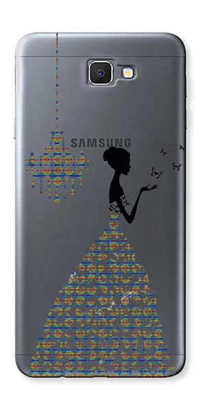 Digiprints Beautiful Lady In Butterfly Gown Design Pattern 4 Case For Samsung Galaxy A9 Pro