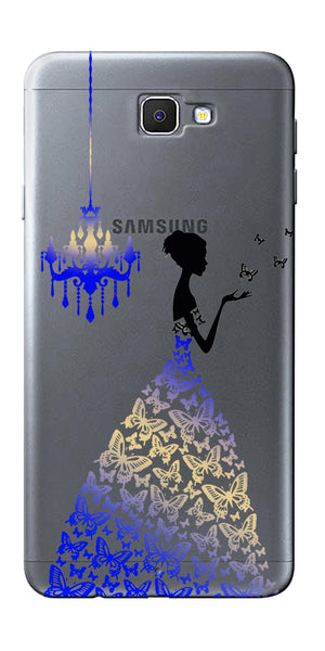 Digiprints Beautiful Lady In Butterfly Gown Design Pattern 5 Case For Samsung Galaxy J7 Prime