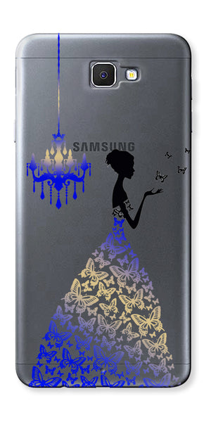 Digiprints Beautiful Lady In Butterfly Gown Design Pattern 5 Case For Samsung Galaxy A9 Pro