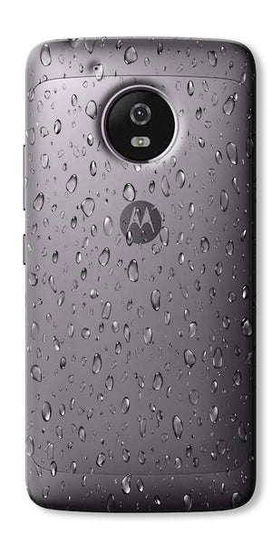 Digiprints Water Droplets Design Clear Case For Motorola Moto G5