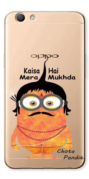 Digiprints Chota Pandit Comic Clear Case For Oppo F1s