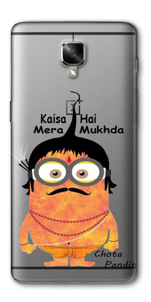 Digiprints Chota Pandit Comic Clear Case For OnePlus 3