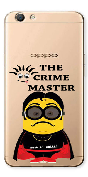 Digiprints Crime Master Printed Clear Case For Oppo F1s