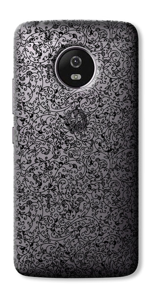Digiprints Beautiful Black Embroidry Design Clear Case For Motorola Moto G5