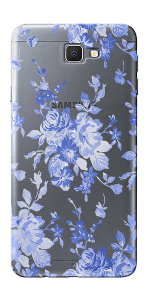 Digiprints Lillies In Blue Clear Case For Samsung Galaxy J7 Prime