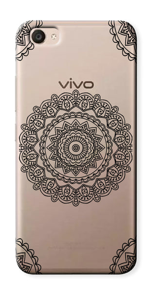 Digiprints Art Abstract In Monochrome Clear Case For Vivo V5