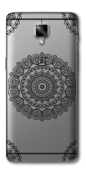 Digiprints Art Abstract In Monochrome Clear Case For OnePlus 3