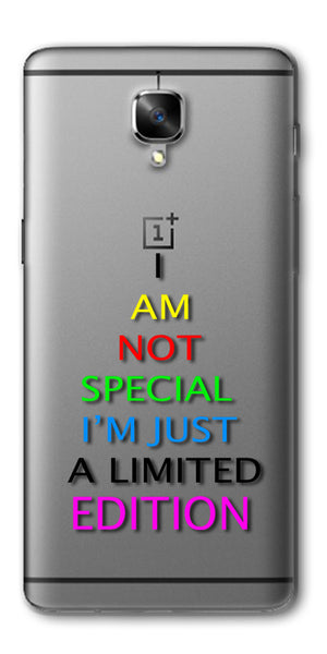 Digiprints I Am Special Edition Printed Clear Case For OnePlus 3