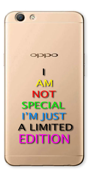 Digiprints I Am Special Edition Printed Clear Case For Oppo F1s