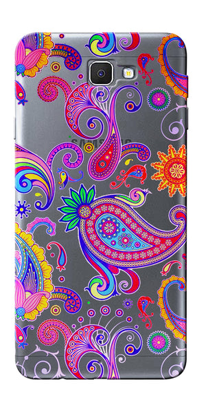 Digiprints Colorful Ethnic Design Clear Case For Samsung Galaxy J7 Prime