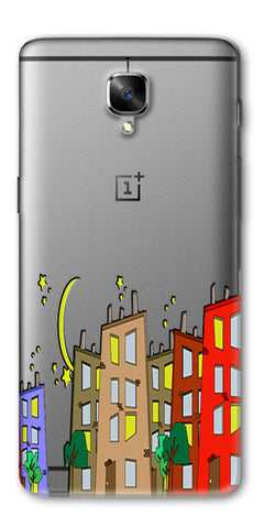 Digiprints Up With Beard Printed Back Case Cover For OnePlus 3