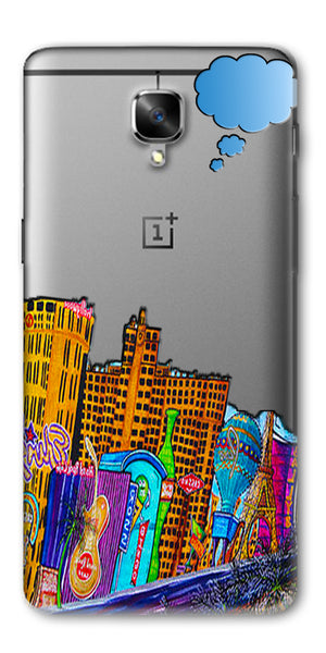 Digiprints High Tech City Design Printed Clear Case For OnePlus 3