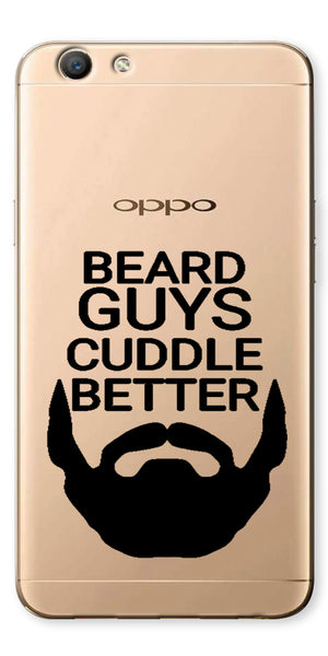 Digiprints Bear Guys Cuddle Better Wuote Clear Case For Oppo F1s