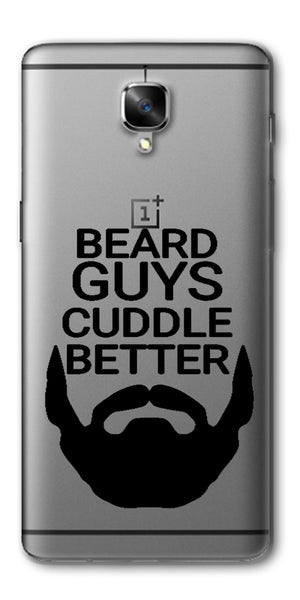 Digiprints Bear Guys Cuddle Better Wuote Clear Case For OnePlus 3T