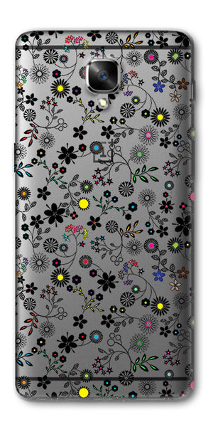 Digiprints Flower Art Printed Clear Case For OnePlus 3T