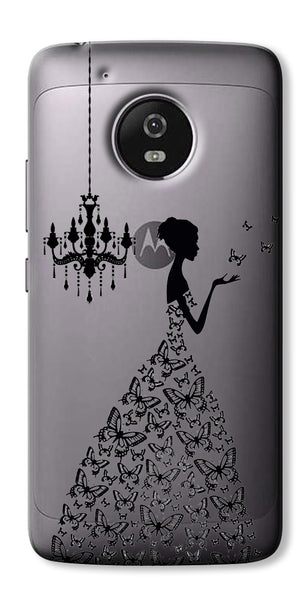 Digiprints Beautiful Lady In Butterfly Gown Design Pattern Digiprints  Case For Motorola Moto G5