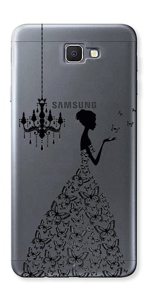 Digiprints Beautiful Lady In Butterfly Gown Design Pattern Digiprints  Case For Samsung Galaxy A9 Pro