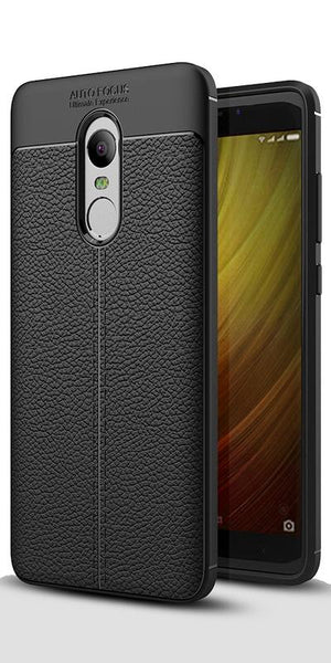 Digiprints TPU Flexible Auto Focus Shock Proof Back Cover For Xiaomi Redmi Note 4-Black