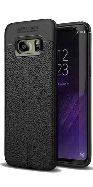 Digiprints TPU Flexible Auto Focus Shock Proof Back Cover For Samsung Galaxy S7 Edge-Black