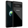 Digiprints Soft Silicon Bumper With Hard Transparent Pc Mobile Back Cover For Samsung Galaxy Note 8-Black