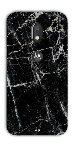 Digiprints Black Marble Design 2 Printed Designer Back Case Cover For Motorola Moto E3 Power