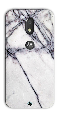 Digiprints White Marble Design 5 Printed Designer Back Case Cover For Motorola Moto E3 Power