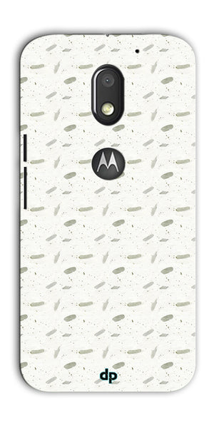 Digiprints White Patches Design Printed Back Case Cover For Motorola Moto E3 Power