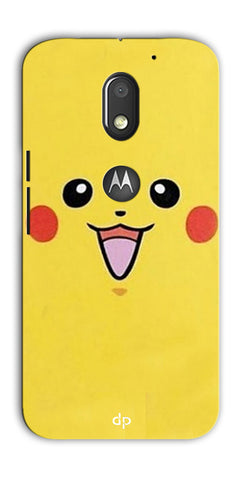 Digiprints Pikachu Pokemon Back Case Cover For Motorola Moto E3 Power