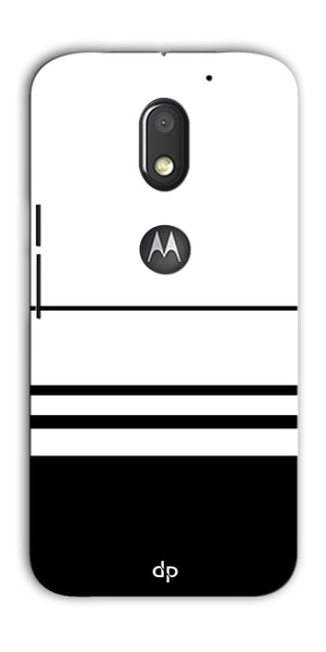 Digiprints Black White Beautiful Pattern Printed Back Case Cover For Motorola Moto E3 Power
