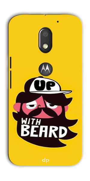 Digiprints Up With Beard Printed Back Case Cover For Motorola Moto E3 Power