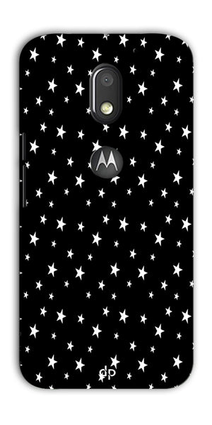 Digiprints Stars Pattern Printed Back Case Cover For Motorola Moto E3 Power