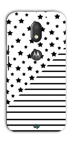 Digiprints Star And Strips On White Printed Back Case Cover For Motorola Moto E3 Power