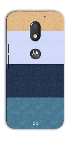 Digiprints Colourful Wall Strips Printed Back Case Cover For Motorola Moto E3 Power