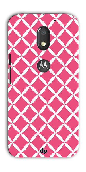 Digiprints Pink Pattern Printed Back Case Cover For Motorola Moto E3 Power
