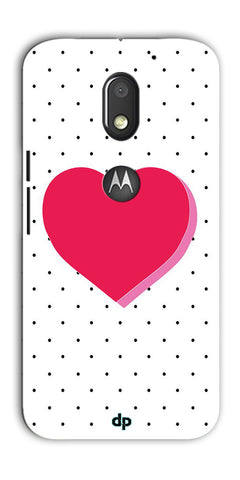 Digiprints Pink Heart Printed Back Case Cover For Motorola Moto E3 Power