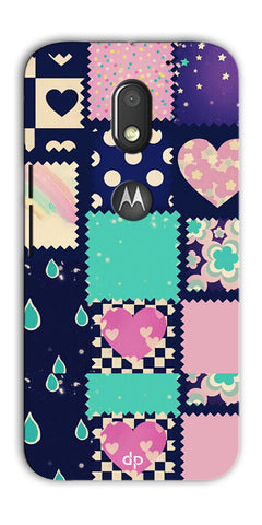 Digiprints Love Mix Pattern Printed Back Cover For Motorola Moto E3 Power