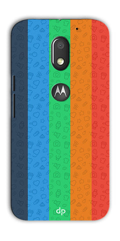 Digiprints Social Signs Colourful Pattern Back Case Cover For Motorola Moto E3 Power