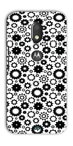 Digiprints Brain To Focus Compilation Patterns Back Case Cover For Motorola Moto E3 Power