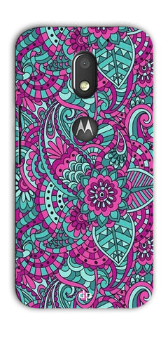 Digiprints Mandala Púrpura  Pattern Back Case Cover For Motorola Moto E3 Power