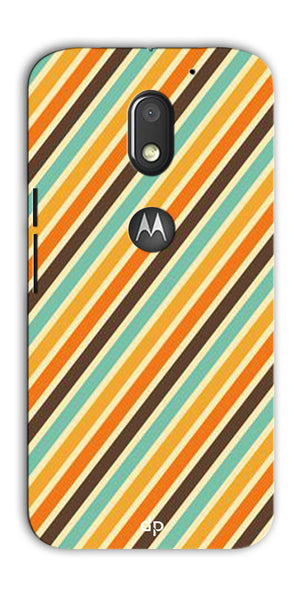 Digiprints Signature Red Patterns Back Case Cover For Motorola Moto E3 Power