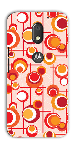 Digiprints Beautiful Geometric Patterns Back Case Cover For Motorola Moto E3 Power