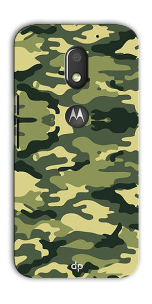 Digiprints Army Pattern Back Case Cover For Motorola Moto E3 Power